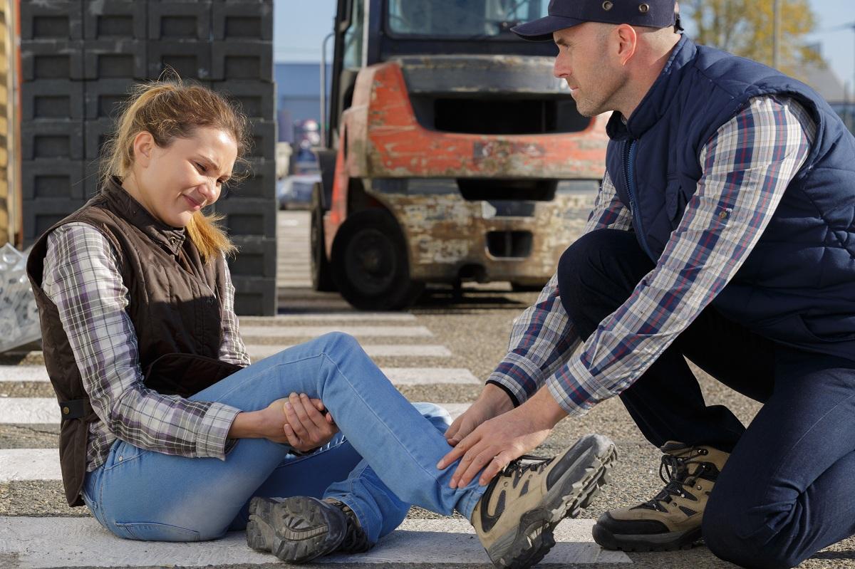 woman injured at work